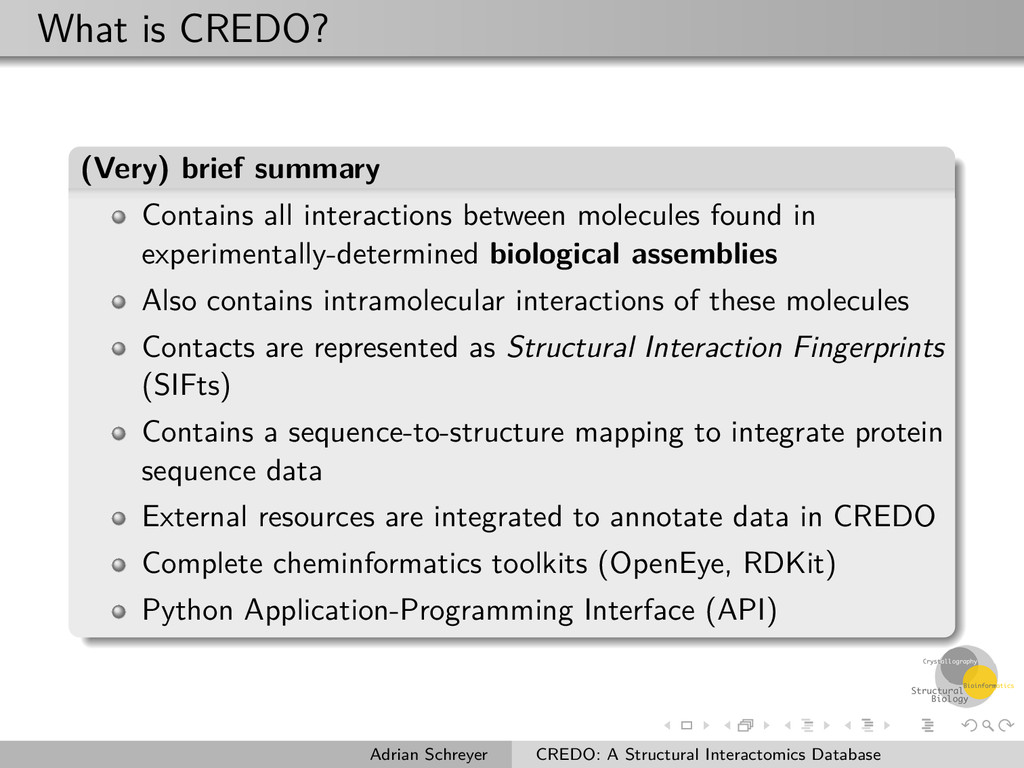 What is CREDO? (Very) brief summary Contains al...