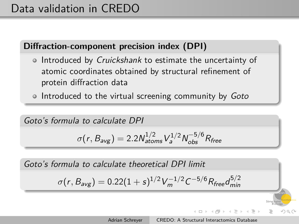 Data validation in CREDO Diffraction-component p...