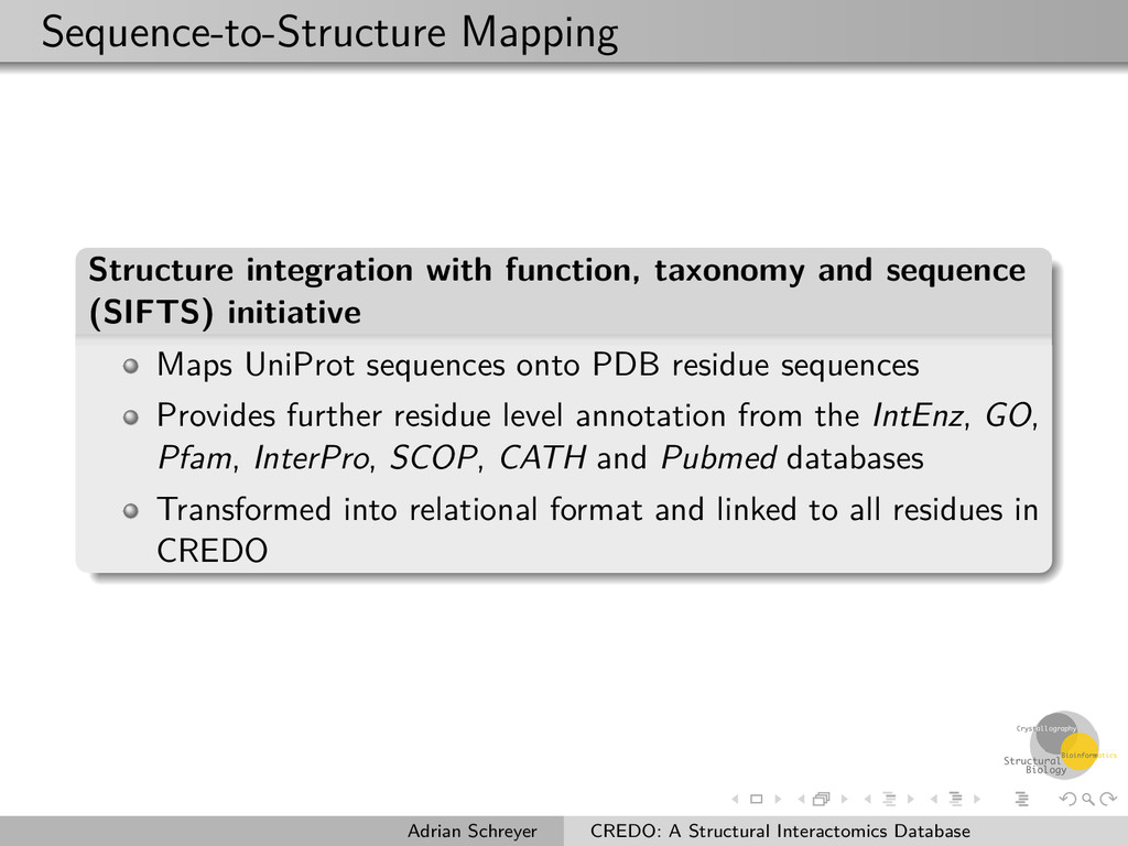 Sequence-to-Structure Mapping Structure integra...