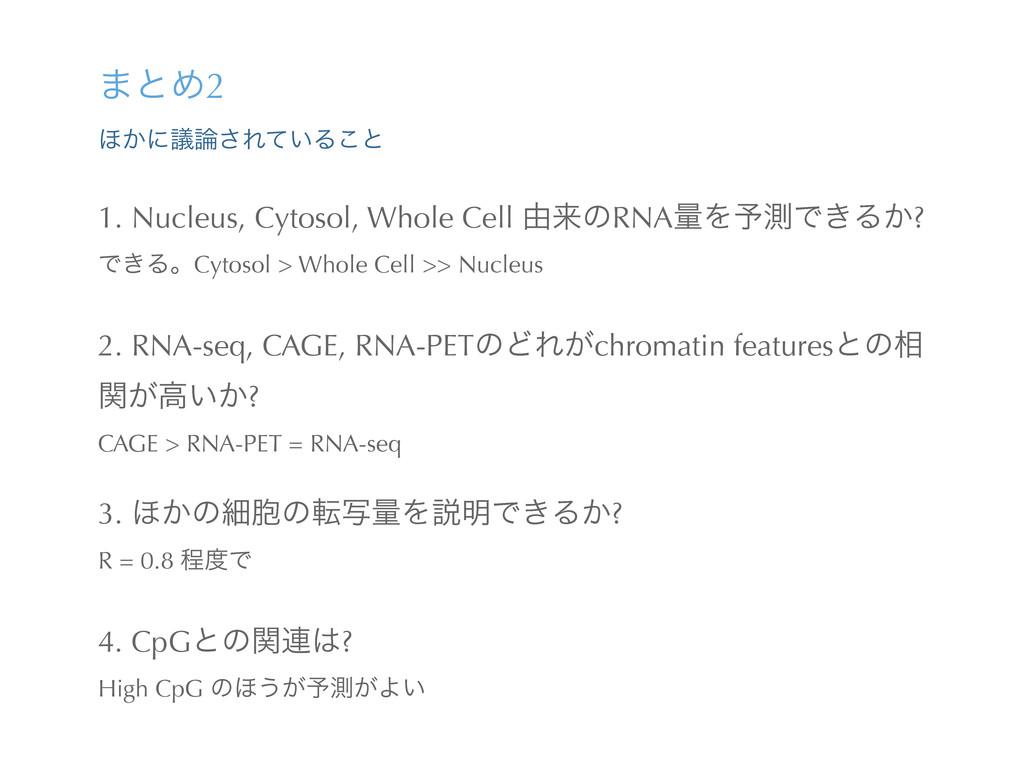 ·ͱΊ2 ΄͔ʹٞ͞Ε͍ͯΔ͜ͱ 1. Nucleus, Cytosol, Whole Ce...