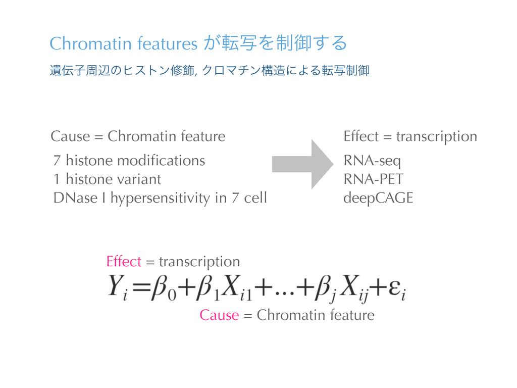 Chromatin features ͕సࣸΛ੍ޚ͢Δ Ҩࢠपลͷώετϯम০, ΫϩϚνϯ...