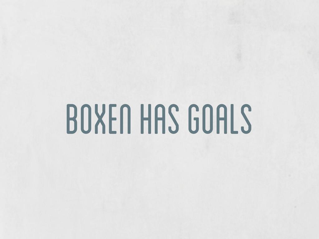 boxen has goals
