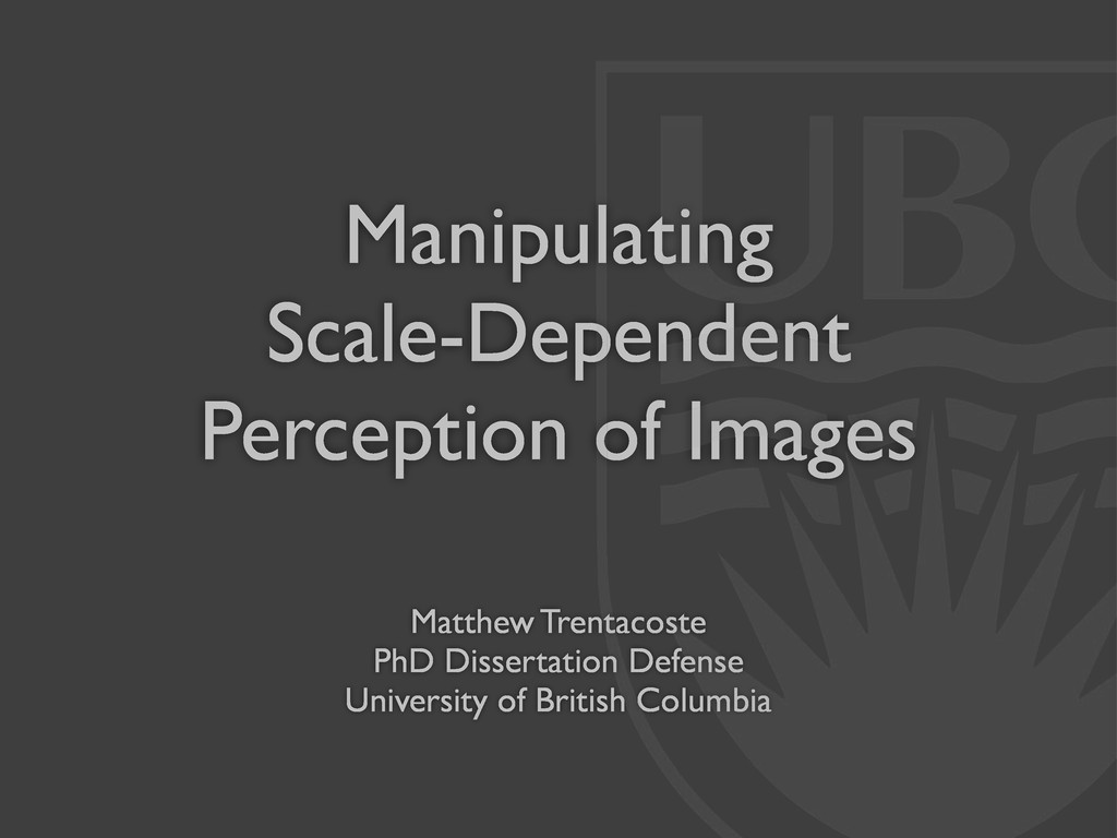 Manipulating Scale-Dependent Perception of Imag...