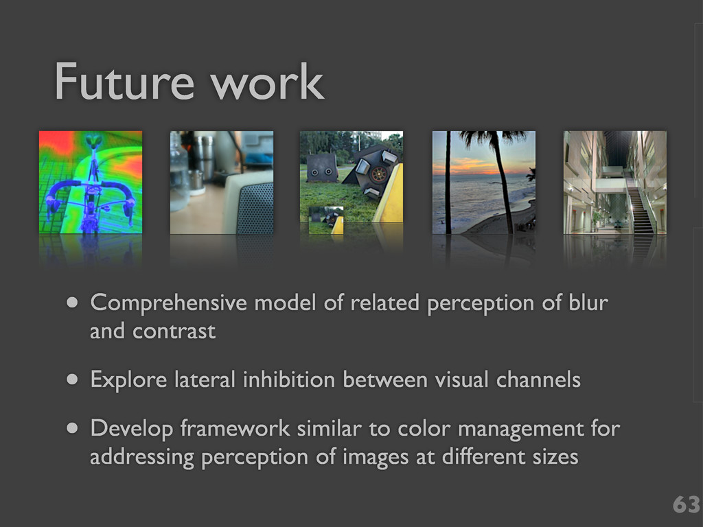 Future work 63 • Comprehensive model of related...
