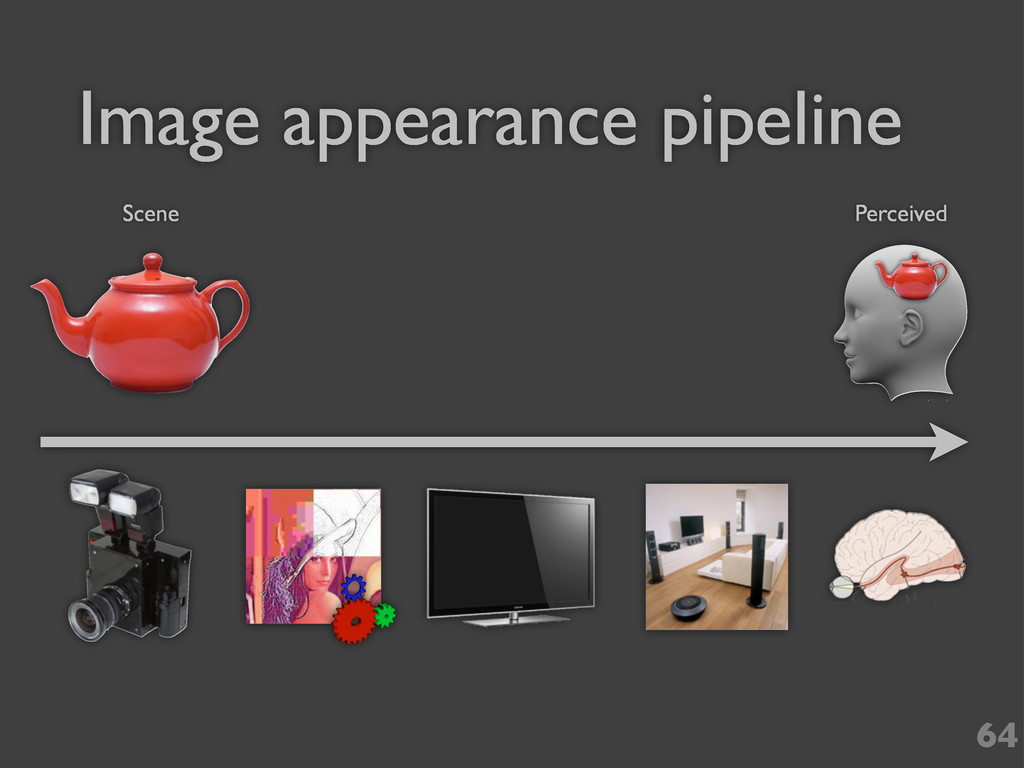 Image appearance pipeline 64 Scene Perceived