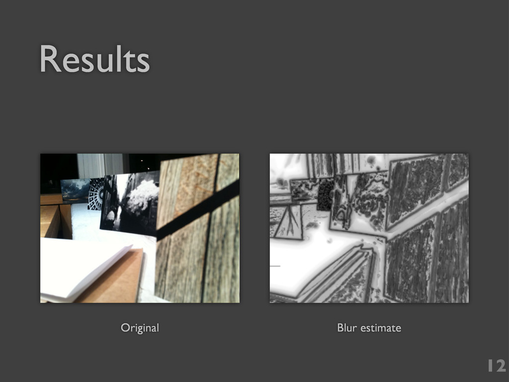 12 Original Blur estimate Results