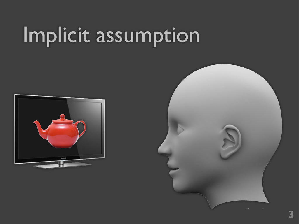 Implicit assumption 3