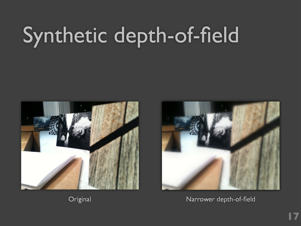 17 Original Narrower depth-of-field Synthetic de...