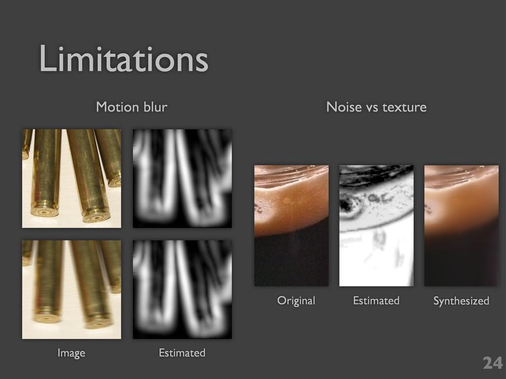Limitations 24 Image Estimated Original Estimat...