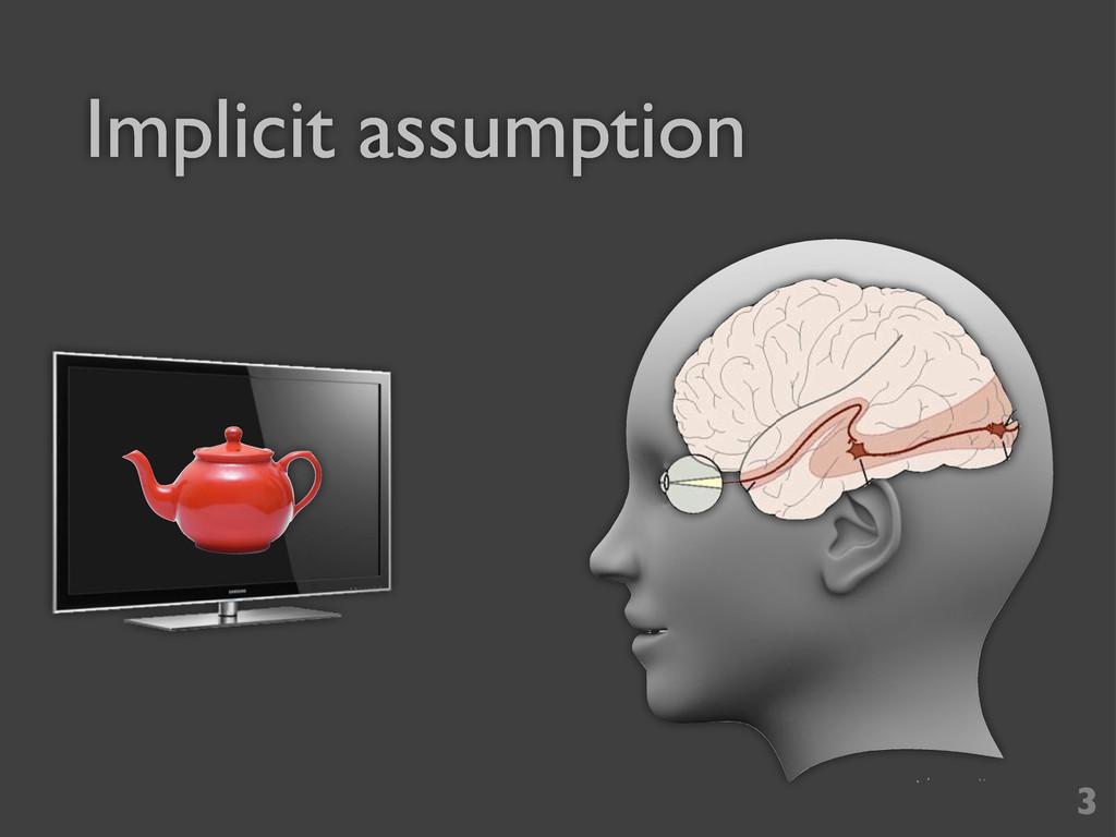 Implicit assumption 3
