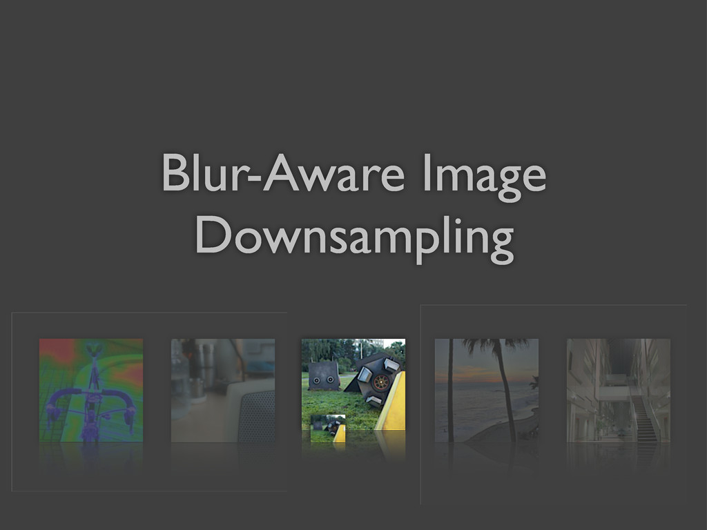 Blur-Aware Image Downsampling