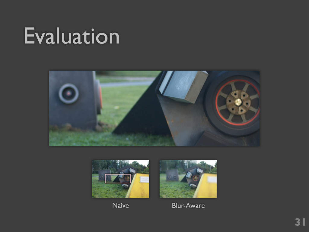 Evaluation Naive Blur-Aware 31