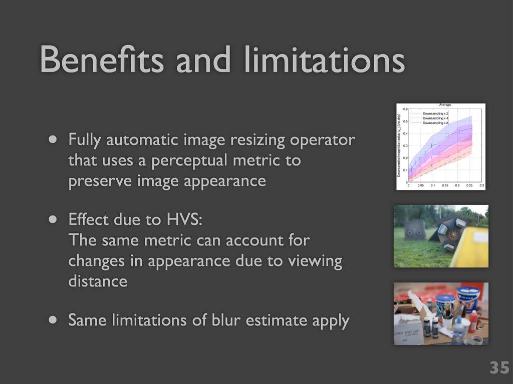 Benefits and limitations 35 • Fully automatic im...