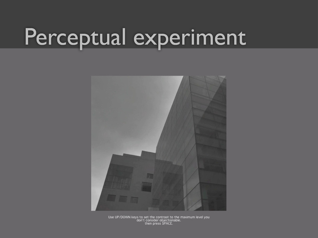 39 Perceptual experiment