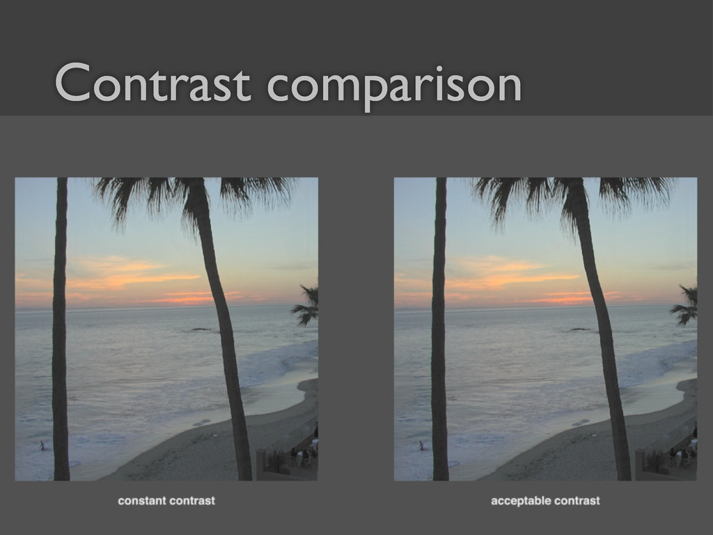 41 Contrast comparison