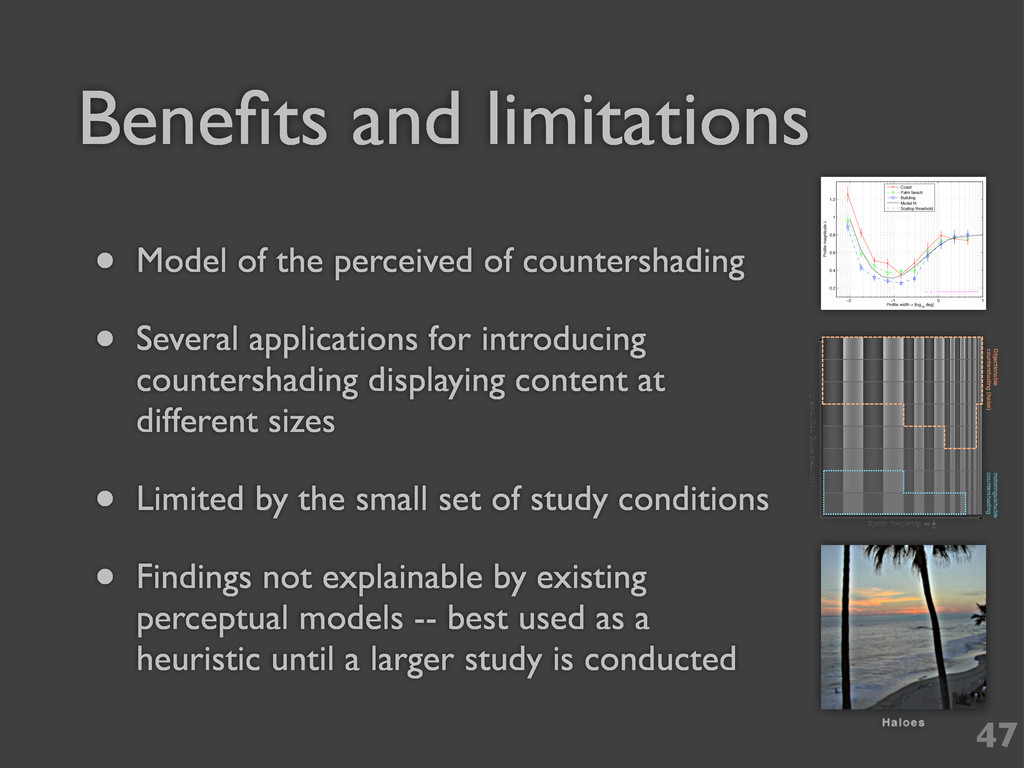 Benefits and limitations 47 • Model of the perce...