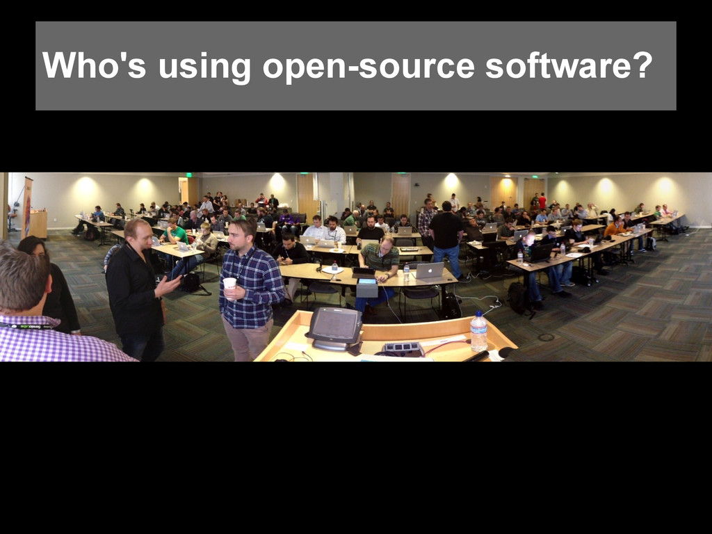 Who's using open-source software?