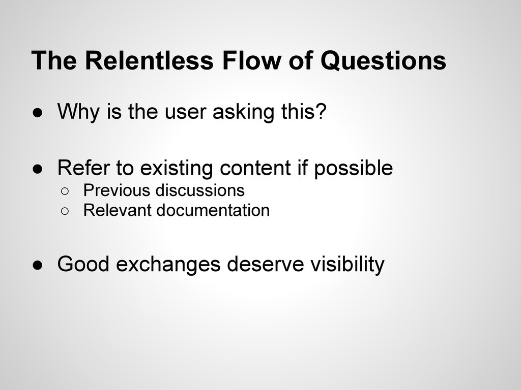 The Relentless Flow of Questions ● Why is the u...