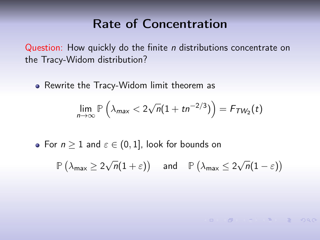 Rate of Concentration Question: How quickly do ...