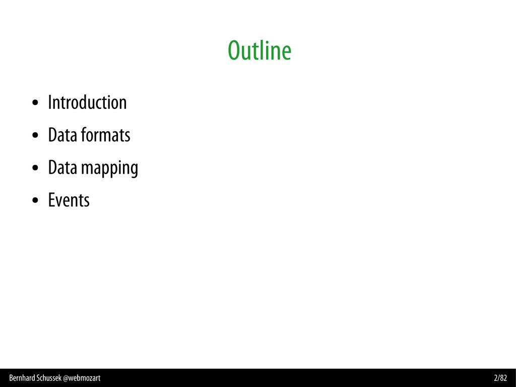 Bernhard Schussek @webmozart 2/82 Outline ● Int...