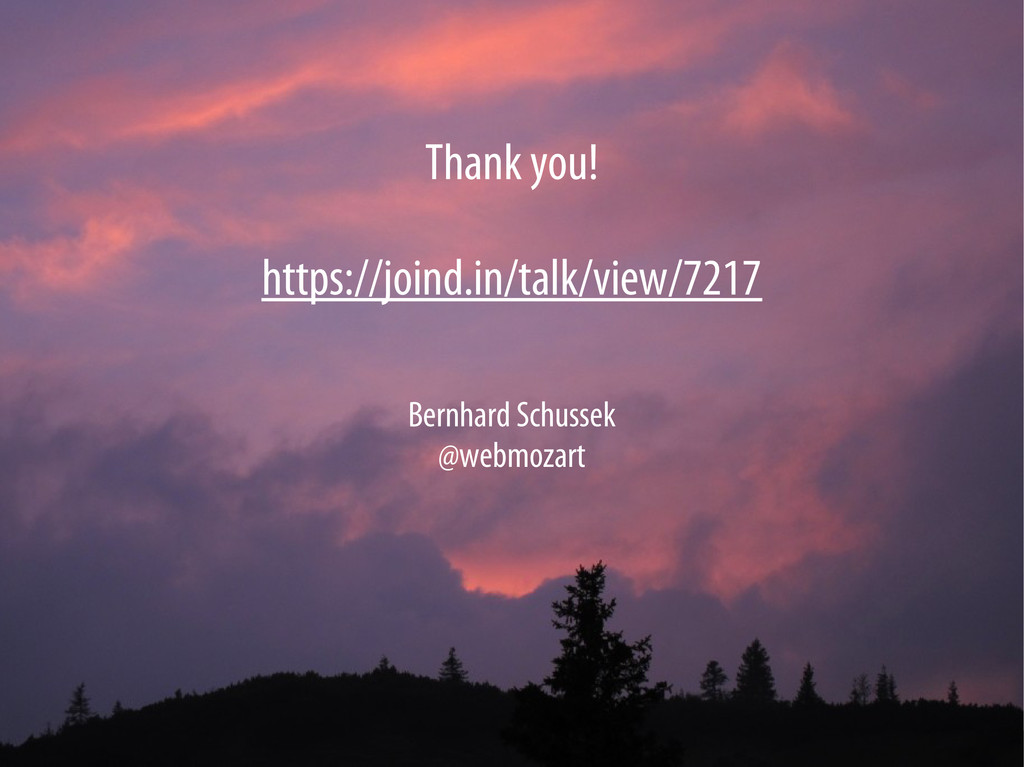 Bernhard Schussek @webmozart 82/82 Thank you! h...