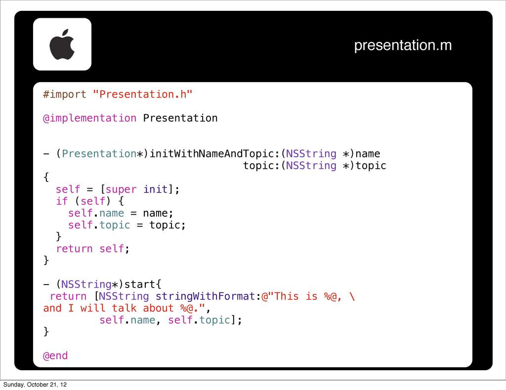 "#import ""Presentation.h"" @implementation Presen..."