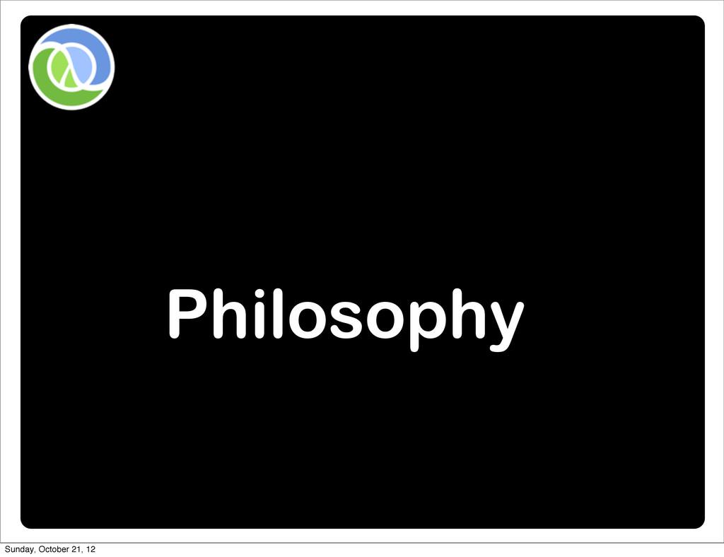 Philosophy Sunday, October 21, 12