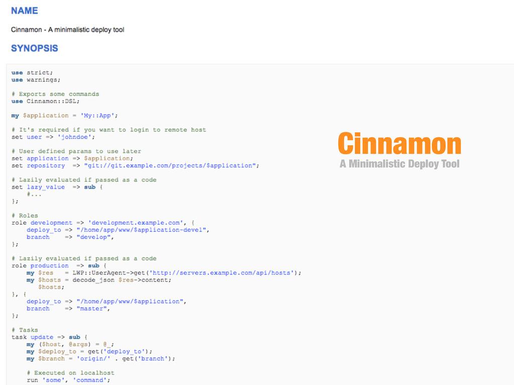 Cinnamon A Minimalistic Deploy Tool
