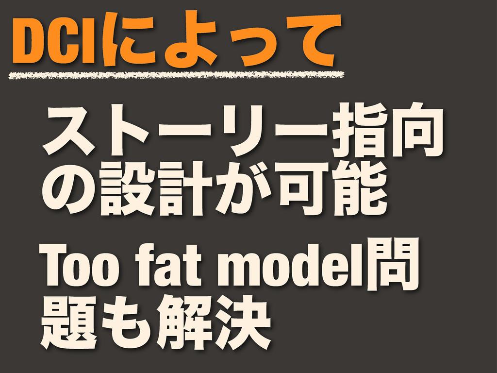 ετʔϦʔࢦ ͷઃܭ͕Մ DCIʹΑͬͯ Too fat model ղܾ