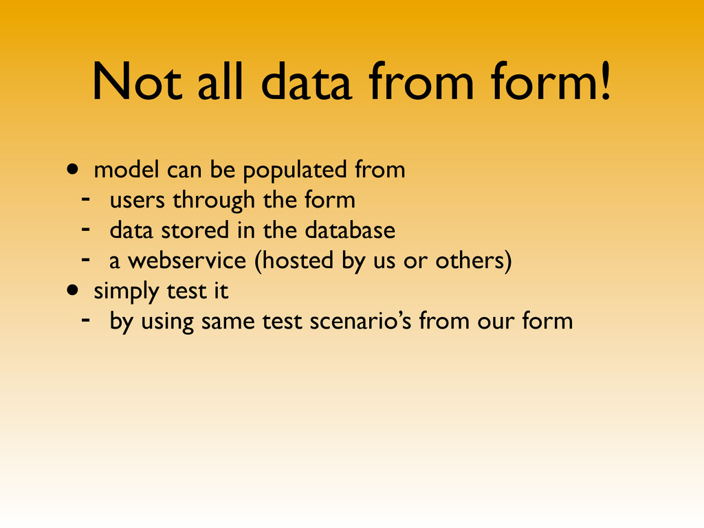 Not all data from form! • model can be populate...