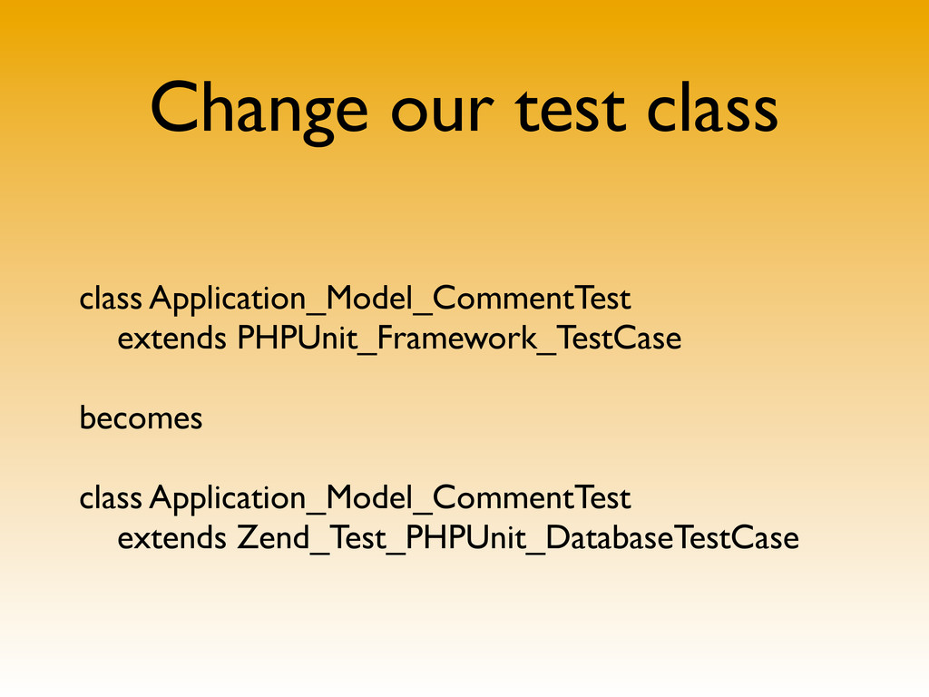 Change our test class class Application_Model_C...