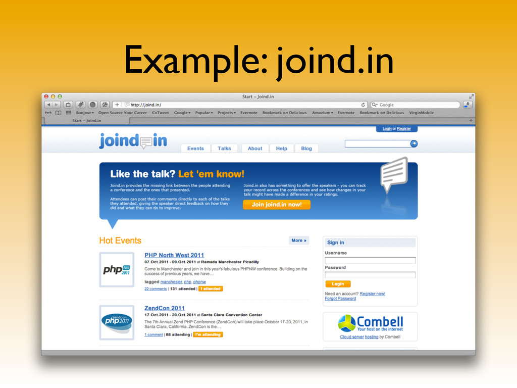 Example: joind.in