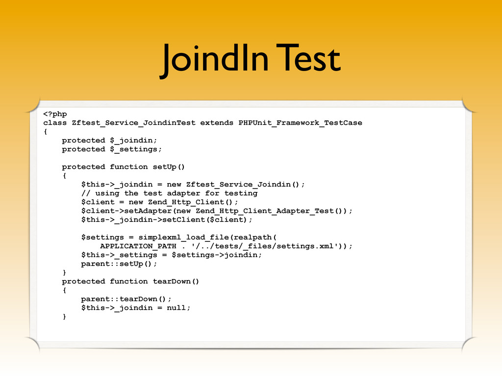 JoindIn Test <?php class Zftest_Service_Joindin...
