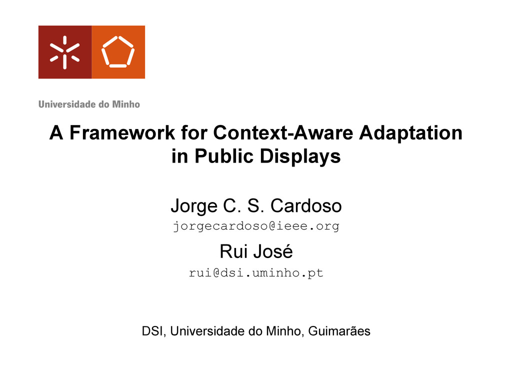 A Framework for Context-Aware Adaptation in Pub...