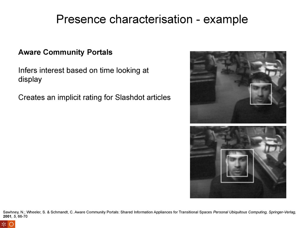 Presence characterisation - example Sawhney, N....