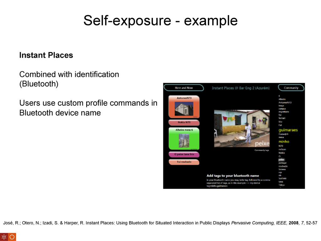 Self-exposure - example José, R.; Otero, N.; Iz...