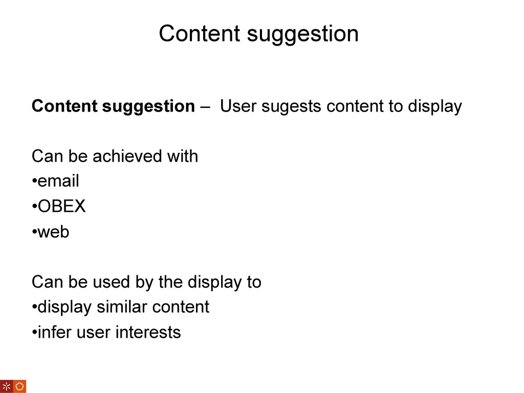 Content suggestion Content suggestion – User su...