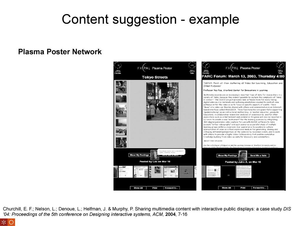 Content suggestion - example Churchill, E. F.; ...