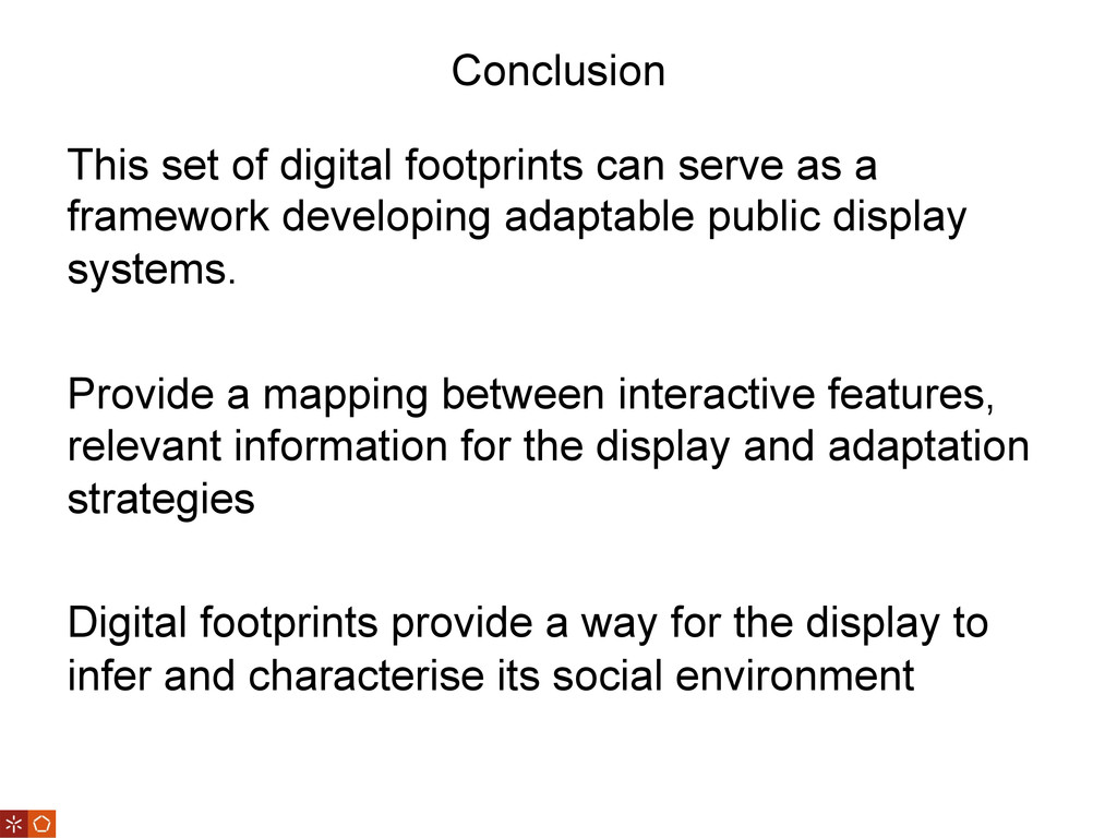 Conclusion This set of digital footprints can s...