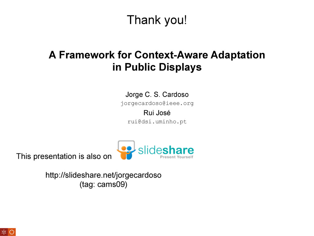 Thank you! This presentation is also on http://...