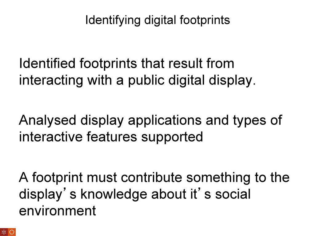 Identifying digital footprints Identified footp...