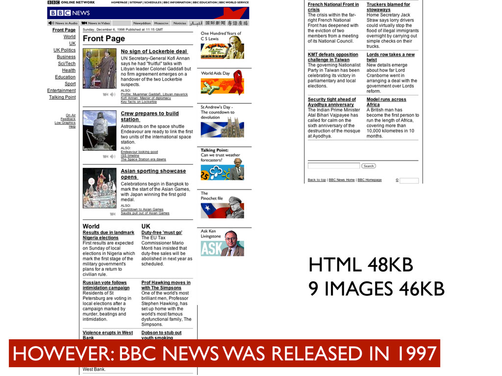 HTML 48KB 9 IMAGES 46KB HOWEVER: BBC NEWS WAS R...