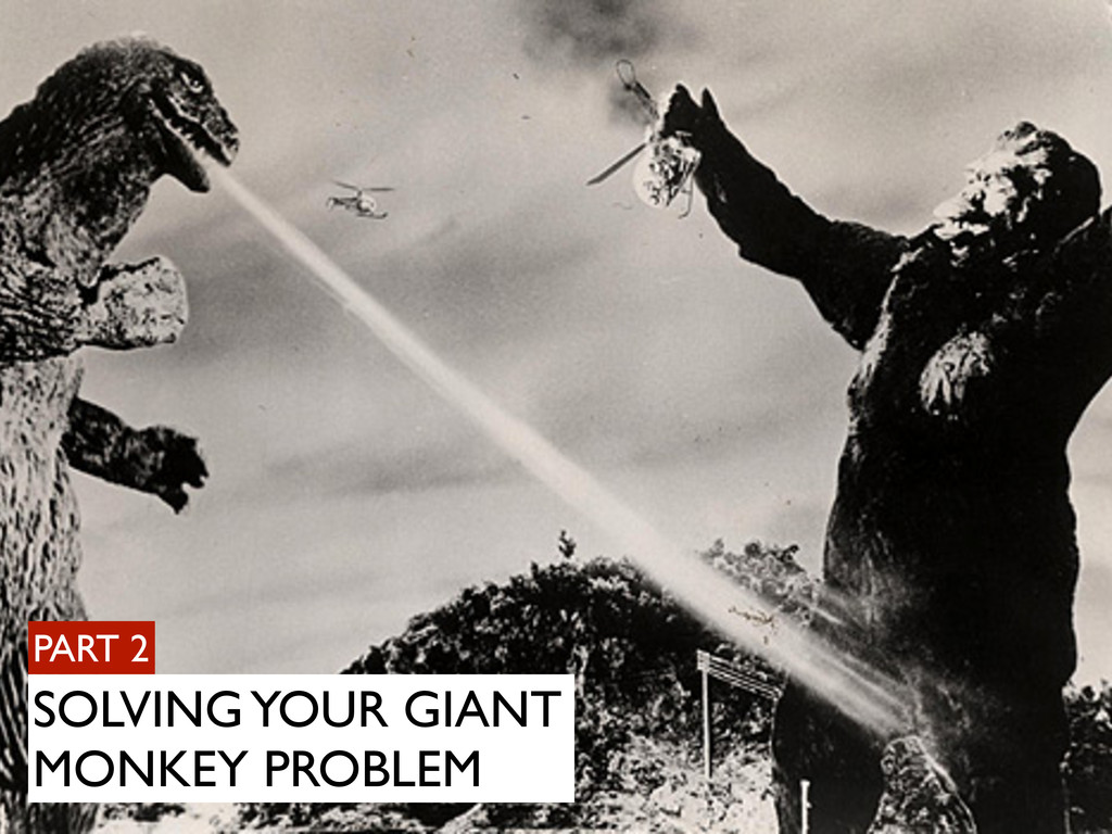 PART 2 SOLVING YOUR GIANT MONKEY PROBLEM