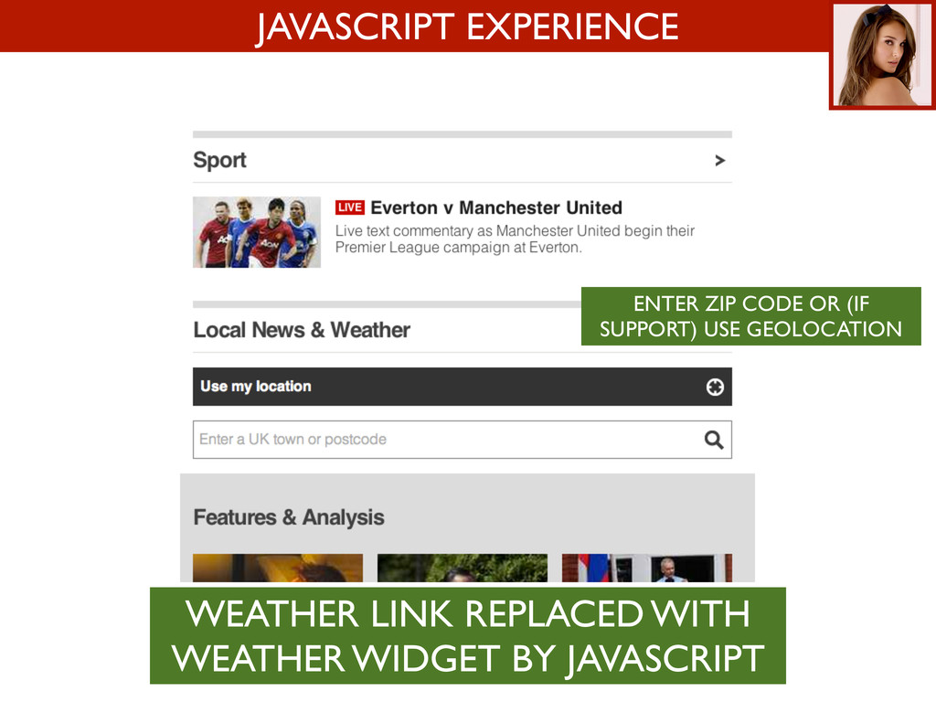 JAVASCRIPT EXPERIENCE ENTER ZIP CODE OR (IF SUP...