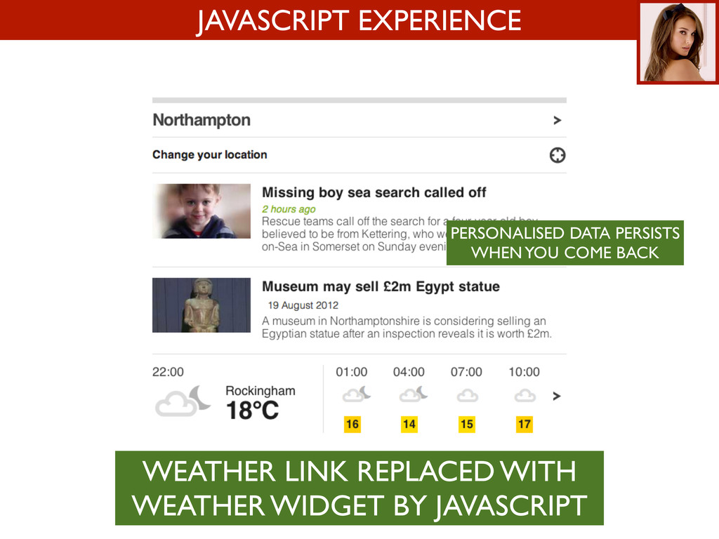 JAVASCRIPT EXPERIENCE WEATHER LINK REPLACED WIT...
