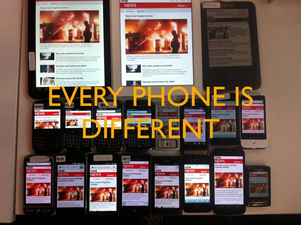 EVERY PHONE IS DIFFERENT
