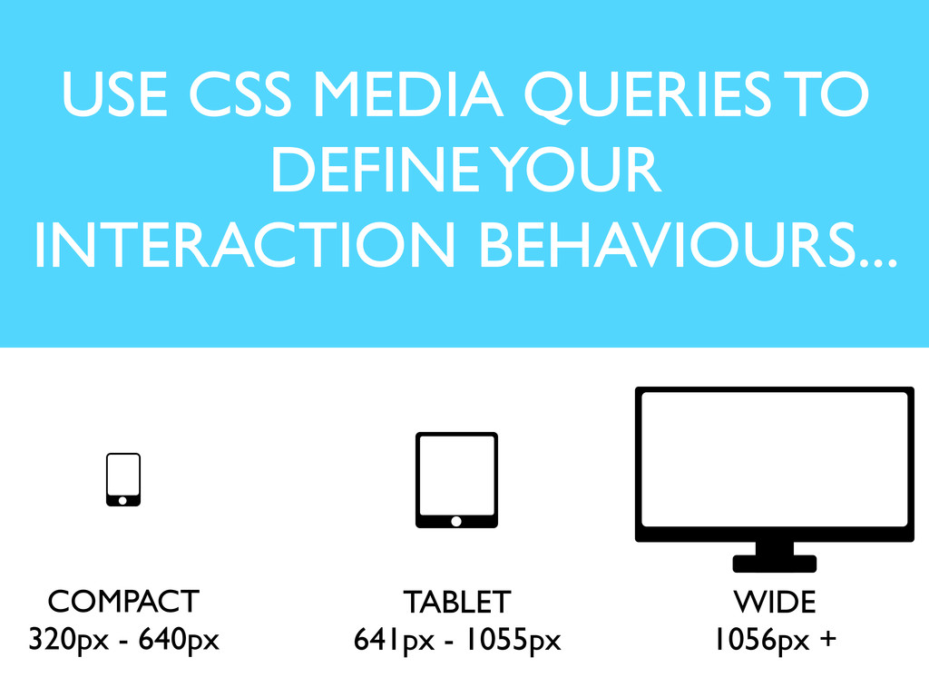 USE CSS MEDIA QUERIES TO DEFINE YOUR INTERACTIO...