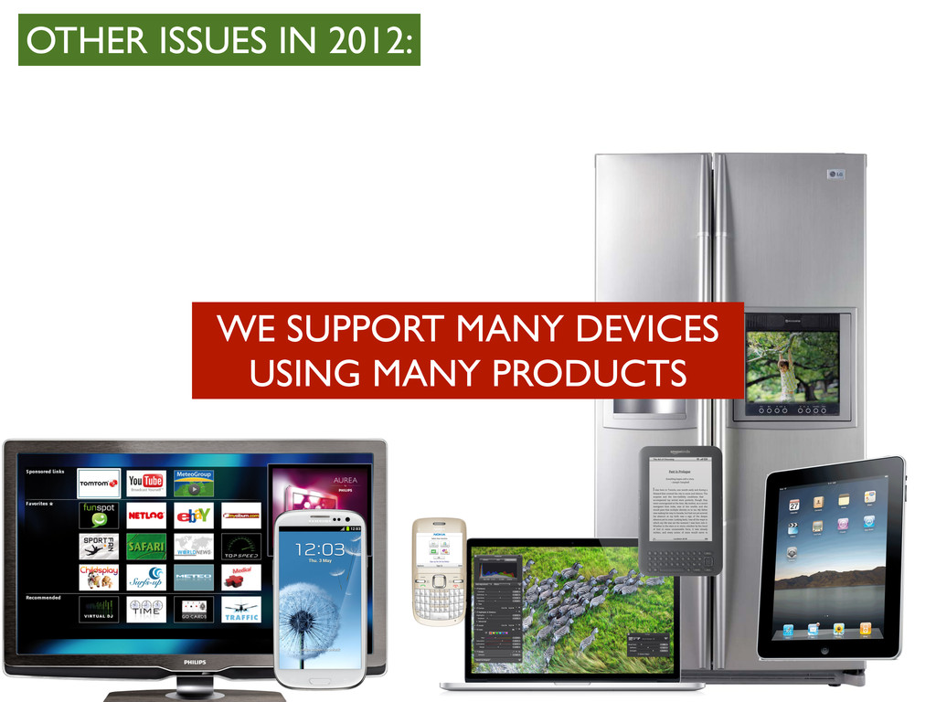 WE SUPPORT MANY DEVICES USING MANY PRODUCTS OTH...