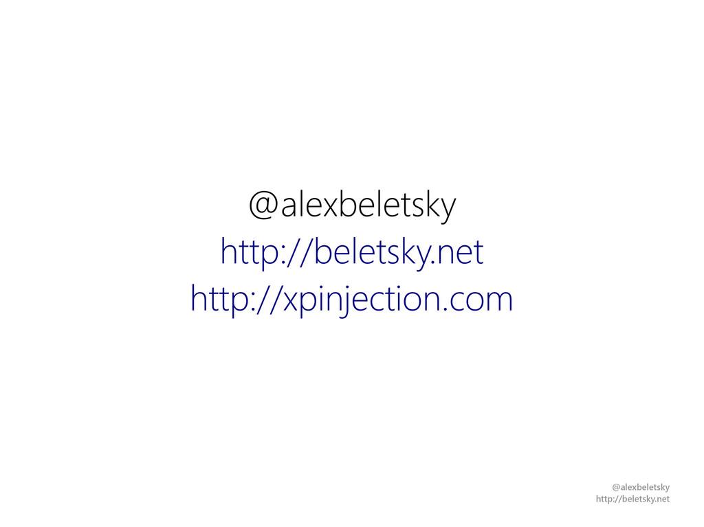 @alexbeletsky http://beletsky.net @alexbeletsky...