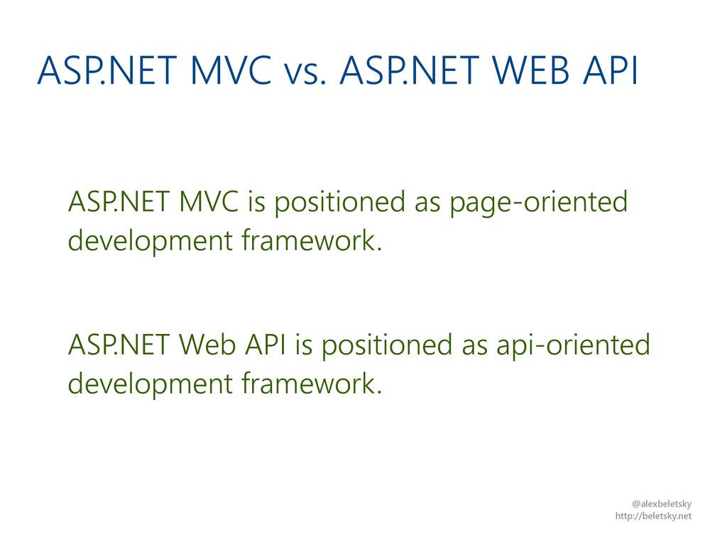@alexbeletsky http://beletsky.net ASP.NET MVC v...